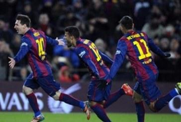 برشلونة يحقق فوزاً كبيراً على ليفانتي