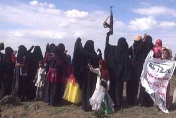 وقفة للقطاع النسائي في جبل النبي شعيب بمديرية بني مطر