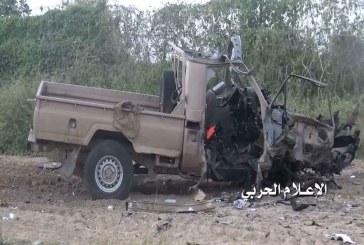 تدمير طقم عسكري محمل بمرتزقة الجيش السعودي قبالة منفذ الخضراء