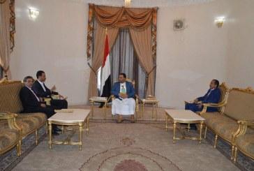 الرئيس الصماد يلتقي رئيس ووكلاء جهاز الأمن القومي