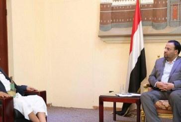 رئيس المجلس السياسي الأعلى يلتقي محافظ إب
