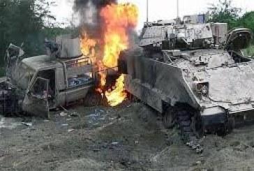 إعطاب آليتين لمرتزقة العدوان السعودي الأمريكي في محافظة تعز.